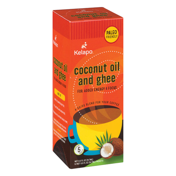 Kelapo Coconut Oil and Ghee 50/50 Blend 0.5 oz Packets - Case of 6 - 5/.5 oz.