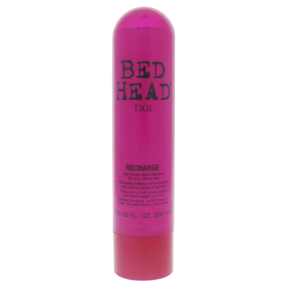 Bed Head Recharge High-Octane Shine Shampoo by TIGI for Unisex - 8.45 oz Shampoo Pack of 3