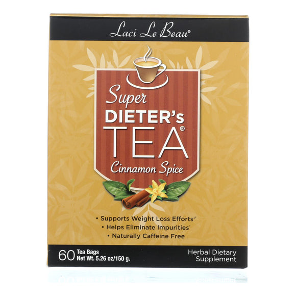 Laci Le Beau Super Dieter's Tea Cinnamon Spice - 60 Tea Bags Pack of 3