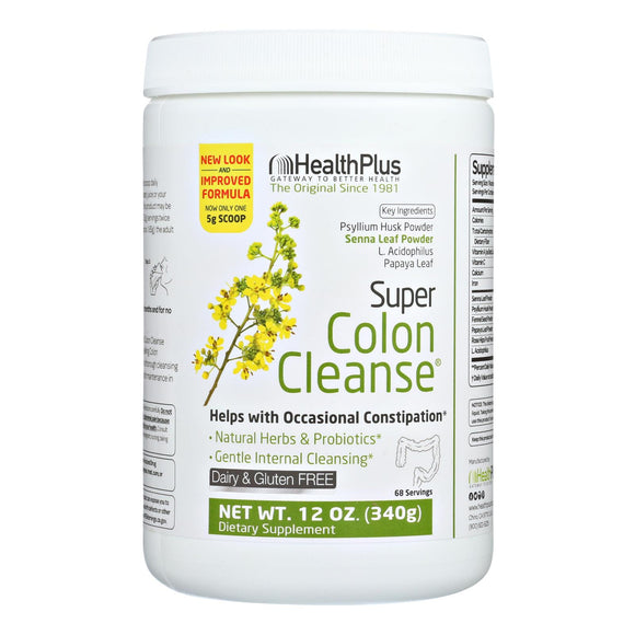 Health Plus - Super Colon Cleanse - 12 oz Pack of 3
