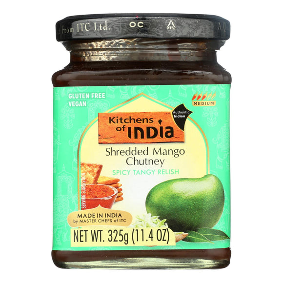 Kitchen of India Chutney - Shredded Mango - Case of 6 - 11.4 oz