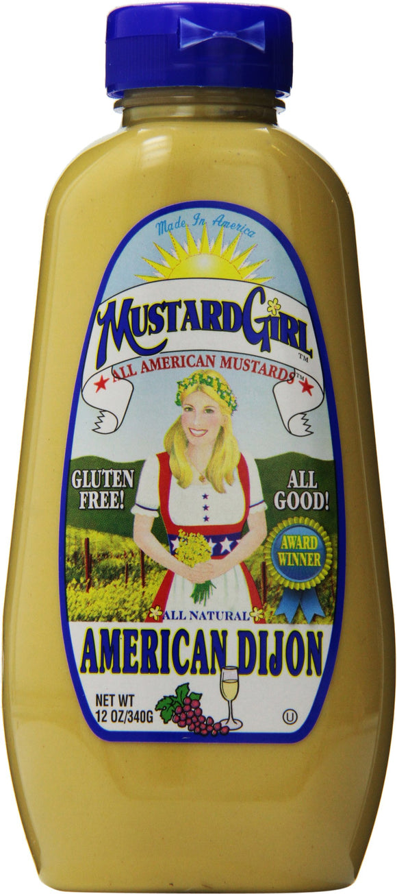 Mustard Girl Mustard - American Dijon - Case of 12 - 12 oz