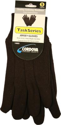 Glove Mens Brwn Jersy Small Pack of 6