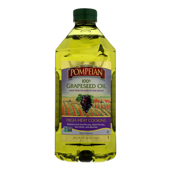 Pompeian 100% Grapeseed Oil - Case of 8 - 68 FZ
