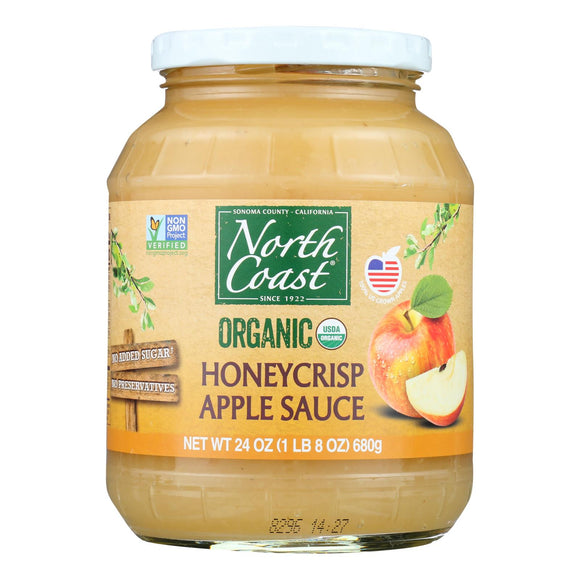 North Coast Organic Honeycrisp Apple Sauce  - Case of 6 - 24 OZ