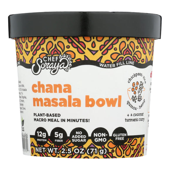 Chef Soraya Eat A Bowl - Chick Pea Rice Chan Mrsla - Case of 6 - 2.5 OZ