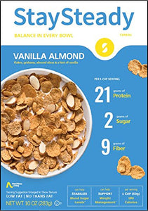 Stay Steady - Cereal Vanilla Almond - Case of 6 - 10 OZ