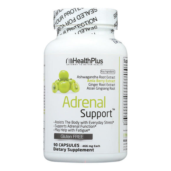 Health Plus - Adrenal Cleanse - 90 Capsules Pack of 3