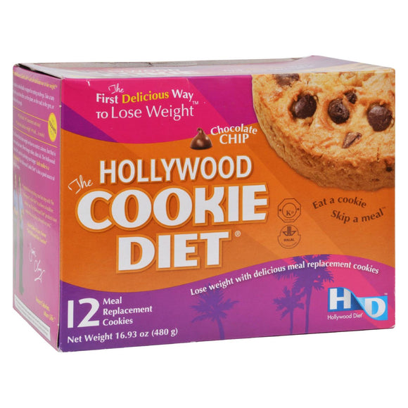Hollywood Diet Miracle Products Cookie Diet Meal Replacement Cookie Chocolate Chip - 12 Cookies Pack of 3