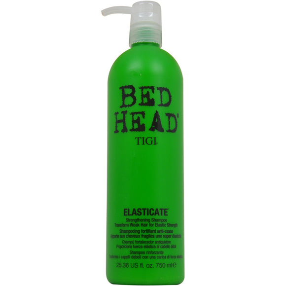 Bed Head Elasticate Strengthening Shampoo by TIGI for Unisex - 25.36 oz Shampoo Pack of 3