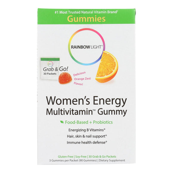 Rainbow Light Womens Multivitamin - Energy - Gummy - 30 Packets Pack of 3