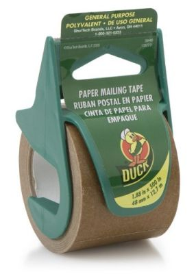 Packing Tape W/Disp Ppr 2X13Yd Pack of 3
