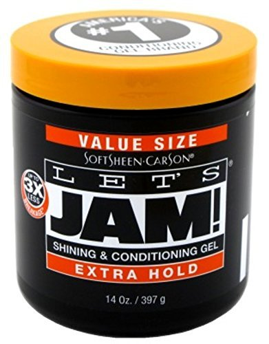 Dark & Lovely Lets Jam Condition & Shine Gel Extra Hold 14 Oz Pack of 6