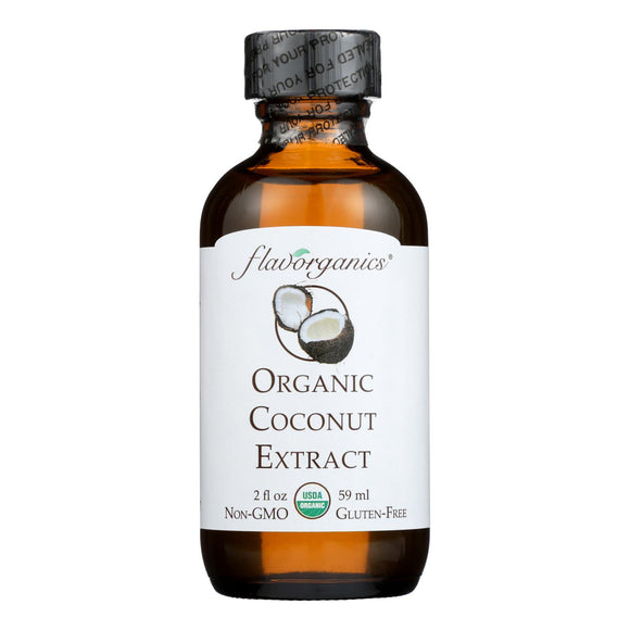 Flavorganics Organic Coconut Extract - 2 oz Pack of 3