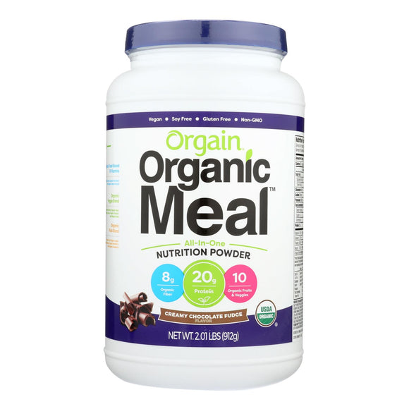 Orgain Organic Meal Powder - Creamy Chocolate Fudge - 2.01 lb Pack of 3