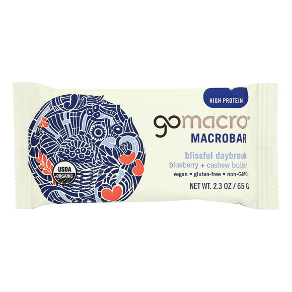 Gomacro Bar - Organic - Bberry - Cashew Butter - Case of 12 - 2.3 oz