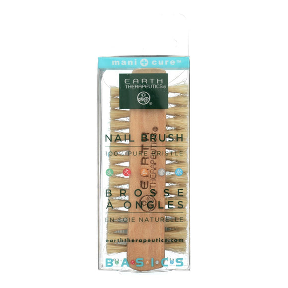 Earth Therapeutics Professional Nail Brush 100% Pure Bristle - 1 Brush Pack of 3