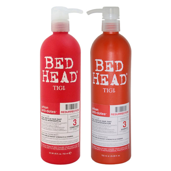 Bed Head Urban Antidotes Resurrection Shampoo and Conditioner Kit by TIGI for Unisex - 2 Pc Kit 25.3 Pack of 3