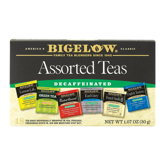 Bigelow Tea Six Assorted Decaffeinated Tea - Case of 6 - 20 Bags
