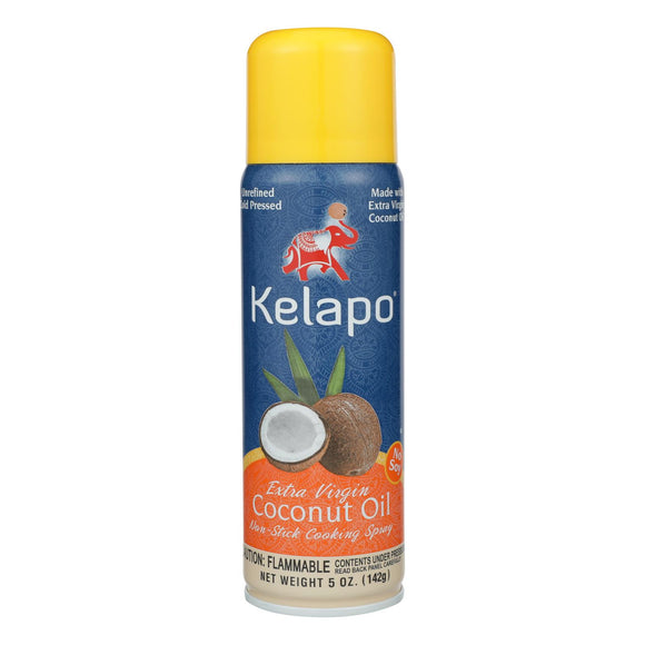 Kelapo Extra Virgin Coconut Oil Cooking Spray - Case of 6 - 5 Fl oz.