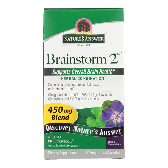 Nature's Answer - Brainstorm - 90 vcaps Pack of 3