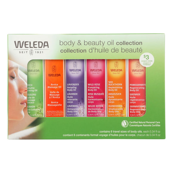 Weleda - Body and Beauty Oil Collection - 6 Count Pack of 3