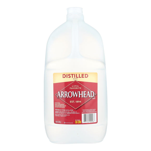 Arrowhead Spring Water - Distilled Water - Case of 6 - 1 Gallon