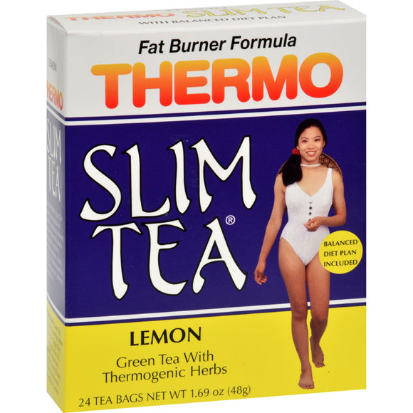Hobe Labs Thermo Slim Tea Lemon - 24 Tea Bags Pack of 3