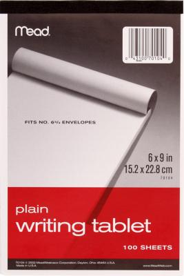Tablet Writing Pl.6X9 100Ct. Pack of 6