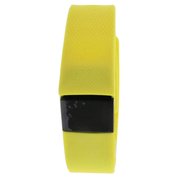 EK-H3 Health Sports Yellow Silicone Bracelet by Eclock for Unisex - 1 Pc Bracelet Pack of 3
