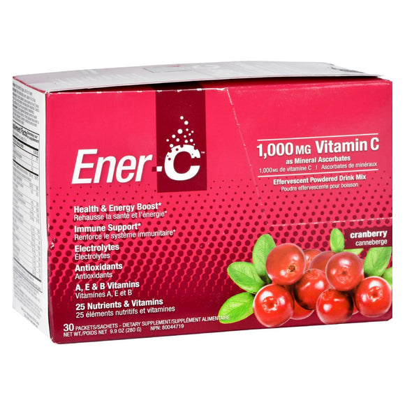 Ener-C - Cranberry - 1000 mg - 30 Packets Pack of 3