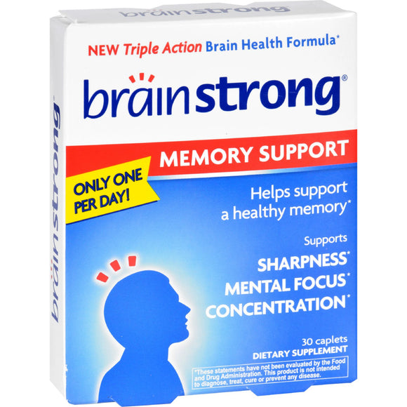 BrainStrong - Memory Support - 30 Capsules Pack of 3