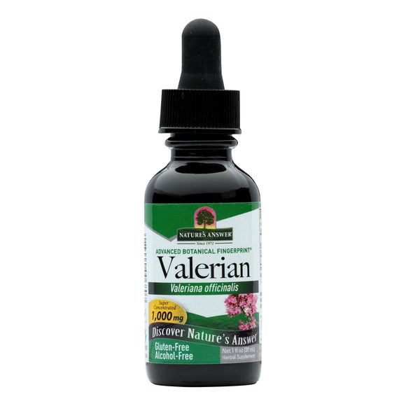 Nature's Answer - Valerian Root Alcohol Free - 1 fl oz Pack of 3