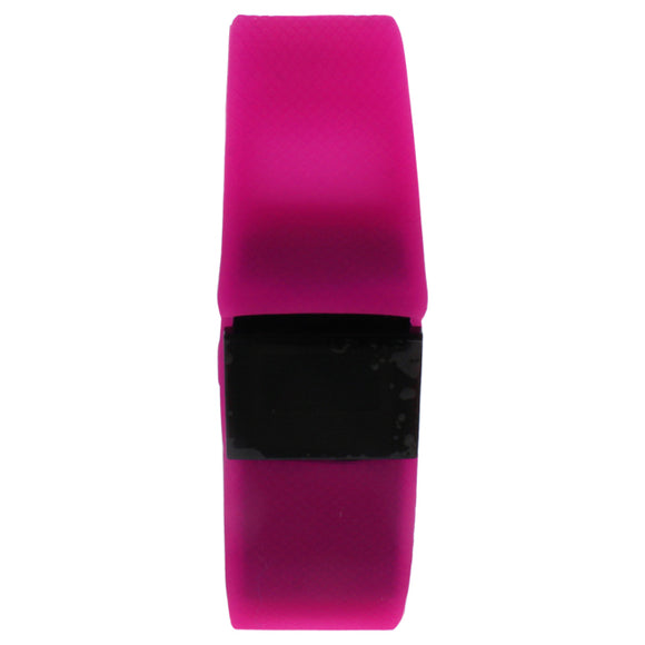 EK-H6 Health Sports Pink Silicone Bracelet by Eclock for Unisex - 1 Pc Bracelet Pack of 3