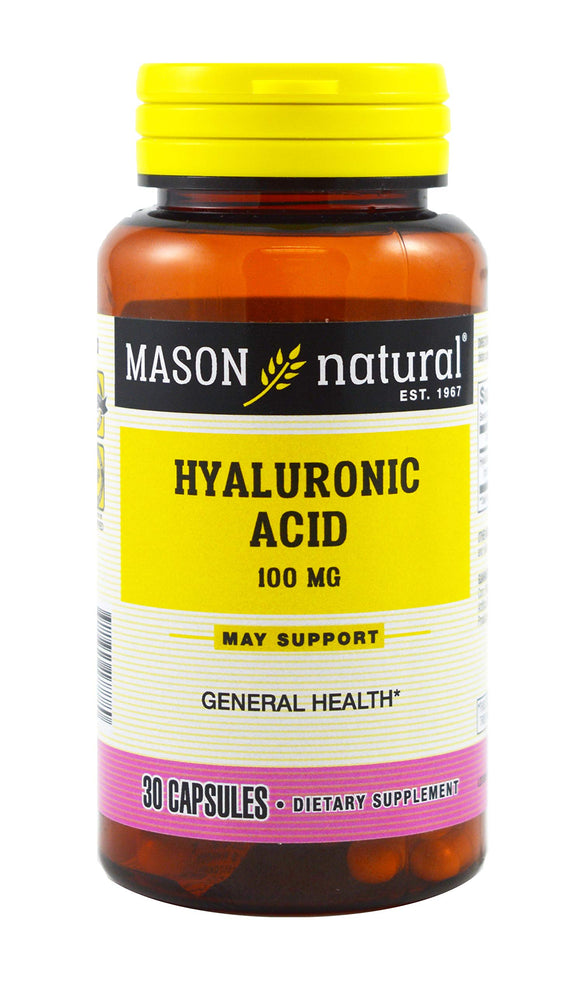 Mason Naturals - Hyalluronic Acid 100 Mg - 1 Each - 30 CAP Pack of 3
