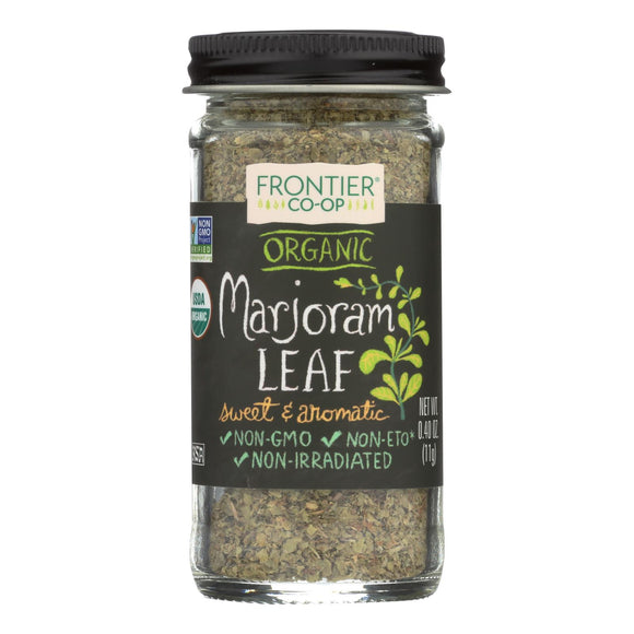 Frontier Herb Marjoram Leaf - Organic - Flakes - Cut and Sifted - .40 oz Pack of 3