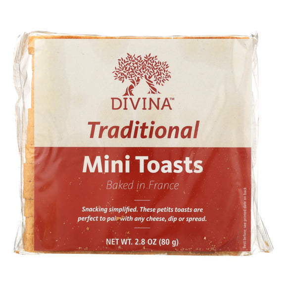 Divina - Traditional Mini Toasts - Case of 24 - 2.8 oz.