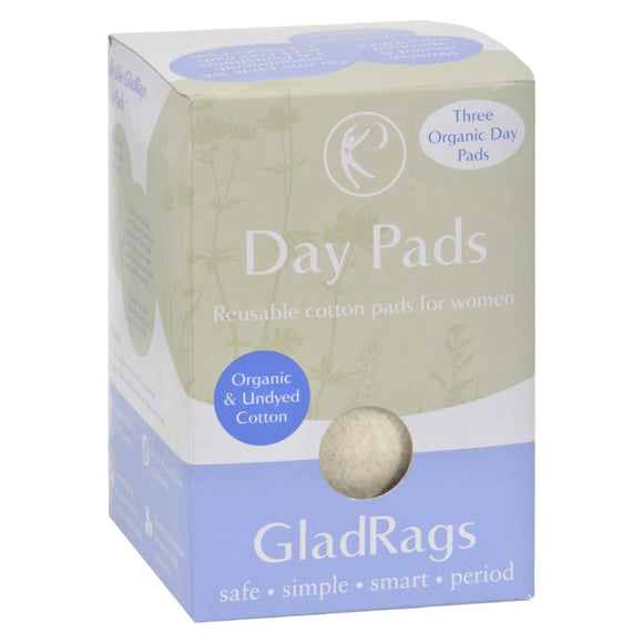 Gladrags Organic Undyed Day Pads - 3 Pack Pack of 3