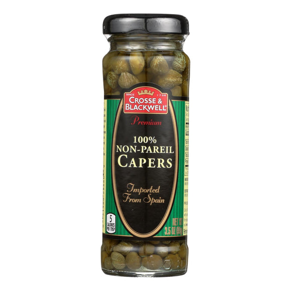 Crosse and Blackwell Capers - 3.5 oz. Pack of 3