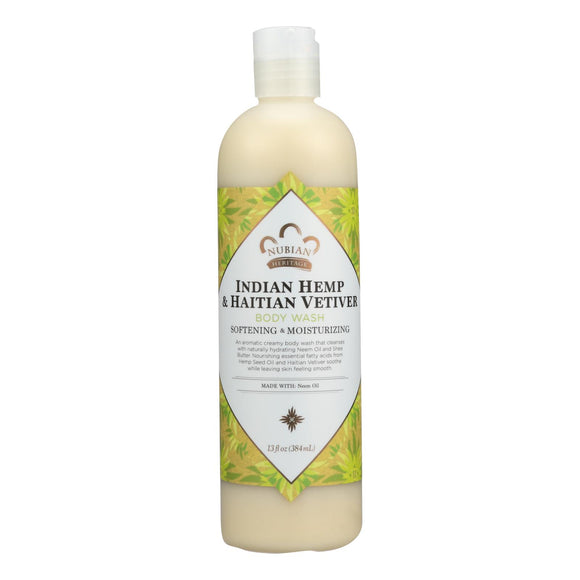 Nubian Heritage Body Wash Indian Hemp And Haitian Vetiver - 13 fl oz Pack of 3