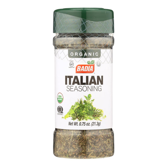 Badia Organic Italian Seasoning  - Case of 8 - .75 OZ
