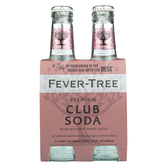 Fever - Tree Spring Soda Water - Soda Water - Case of 6 - 6.8 FL oz.