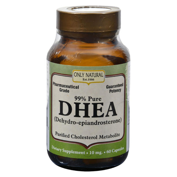 Only Natural DHEA - 99% - 10 mg - 60 Caps Pack of 3