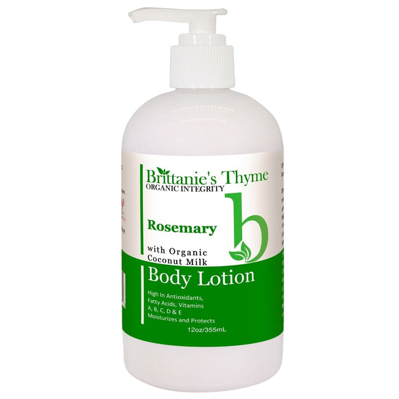 Brittanie's Thyme - Body Lotion - Rosemary - 12 oz. Pack of 3