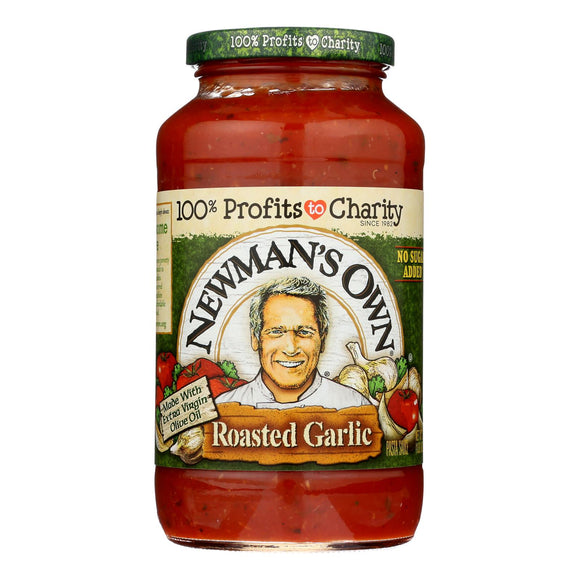Newman's Own - Pasta Sauce Roasted Garlic - Case of 8 - 24 FZ