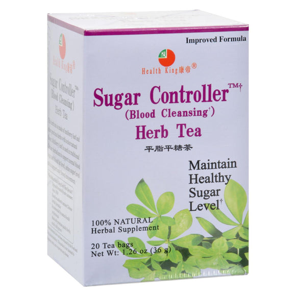 Health King Sugar Controller Blood Cleansing Herb Tea - 20 Tea Bags Pack of 3