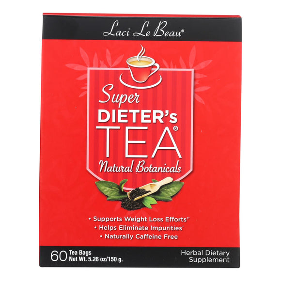 Laci Le Beau Super Dieter's Tea All Natural Botanicals - 60 Tea Bags Pack of 3