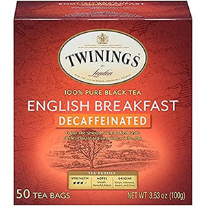 Twinings Tea - Tea Decaf English Breakfast - Case of 6 - 50 BAG