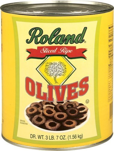 Roland Products Olives - Sliced - Case of 6 - 55 oz