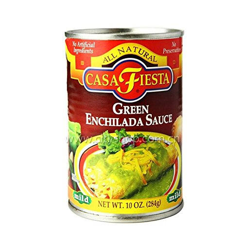 Casa Fiesta Green Enchilada Sauce - Case of 12 - 10 OZ